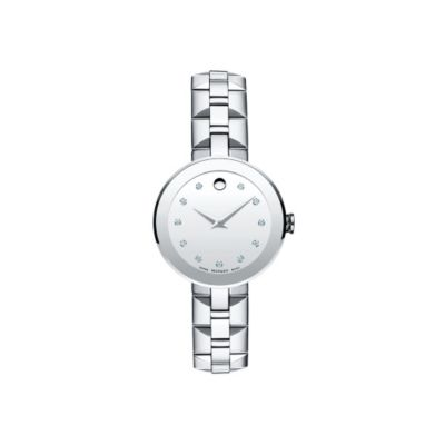 Movado Sapphire Women's Stainless Steel Diamond Watch