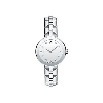 Movado Sapphire Women's Stainless Steel Diamond Watch