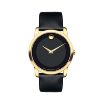 Movado_Men's_Museum_Classic_Gold_Tone_Watch,_Black_Dial