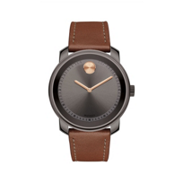 movado_bold_42.5mm_grey_stainless_steel_men's_watch_with_brown_leather_strap