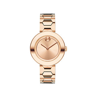 Movado Bold 32MM Rose Gold Ion-Plated Stainless Steel Watch