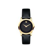 Movado_Museum_Classic_Women's_Black_Calfskin_Strap_Watch