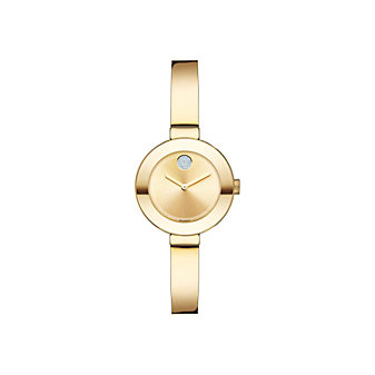 Movado Small Bold Yellow Gold-Tone Women's Bangle Watch