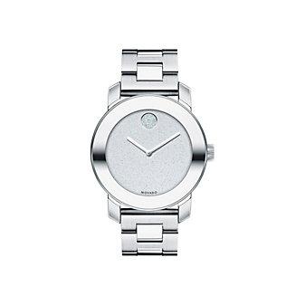 Movado Bold Midsize Silver-Tone Unisex Watch