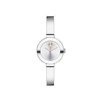 Movado Bold Small Silver-Tone Women's Bangle Watch
