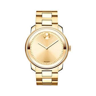 Movado Bold Yellow Gold-Tone Men's Watch