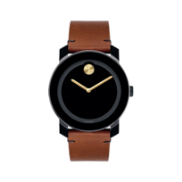 Movado_TR90_Bold_Black_Dial_&_Brown_Leather_Strap_Men's_Watch
