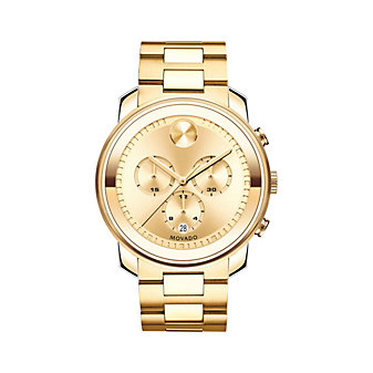 Movado Bold Chronograph Yellow Gold-Tone 3-Subdial Men's Watch