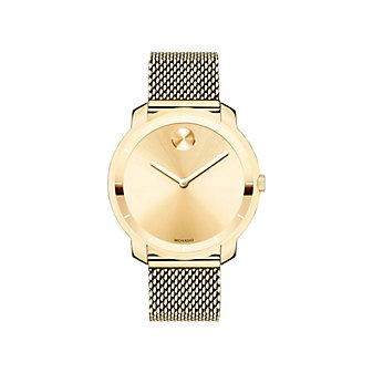 Movado Bold 36MM Yellow Gold Ion-Plated Stainless Steel Watch