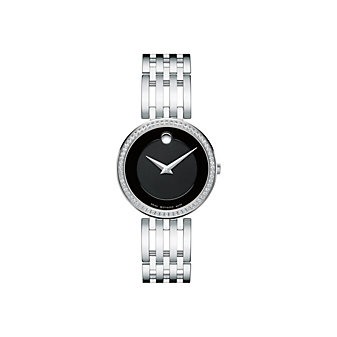 Movado Esperanza Stainless Steel Diamond Bezel Women's Watch