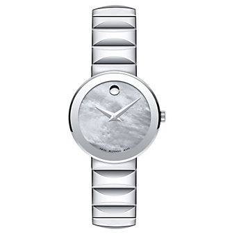 Movado Sapphire Stainless Steel Mother of Pearl Women's Watch