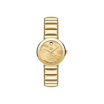 Movado Sapphire Yellow PVD Mother of Pearl Women's Watch
