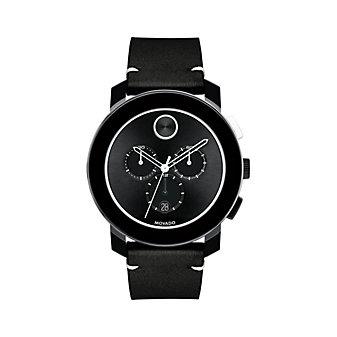Movado Bold Large Black Chronograph Men's Watch