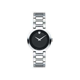 movado modern classic quartz 28mm stainless steel women's watch