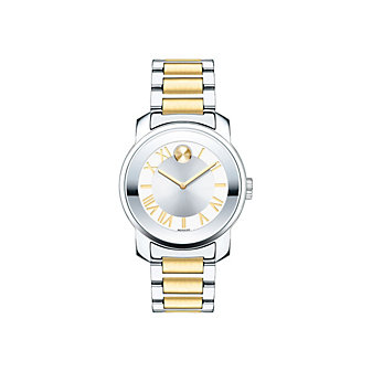 movado bold midsize 32mm two-tone stainless steel women's watch