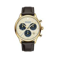 movado_heritage_series_chronograph_yellow_tone_and_stainless_steel_43mm_men's_watch