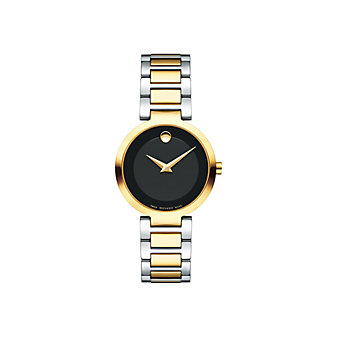 movado modern classic quartz 28mm two-tone stainless steel women's watch