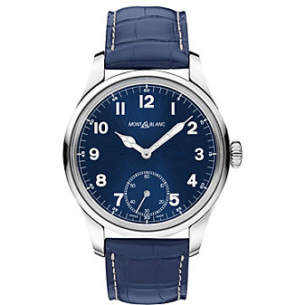 MontBlanc 1858 Manual Small Second Blue Men's Watch