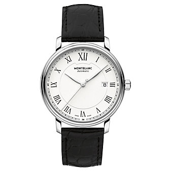MontBlanc Tradition Date Automatic Black Strap Men's Watch
