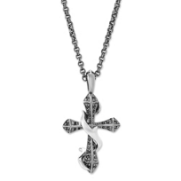 Stephen_Webster_Sterling_Silver_Black_Sapphire_Thorn_Cross_Pendant