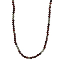 Stephen_Webster_Men's_Sterling_Silver_Red_Tiger's_Eye_Bead_&_Pyrite_Bead_Necklace