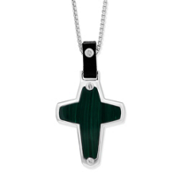 Stephen_Webster_Men's_Sterling_Silver_Malachite_Cross_Pendant