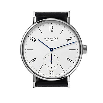 nomos glashutte tangomat datum watch