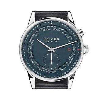 nomos glashutte zurich weltzeit nachtblau watch