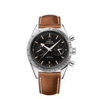 omega_steel_&_brown_leather_speedmaster_'57_co-axial_chronograph_watch,_41.5mm