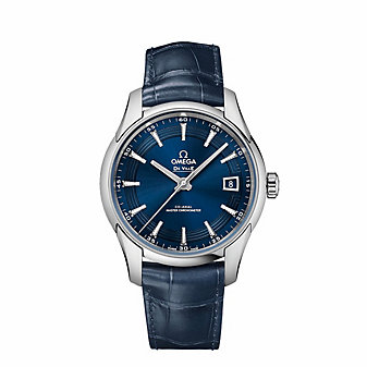 omega steel blue de ville hour vision co-axial master chronometer watch, 41mm
