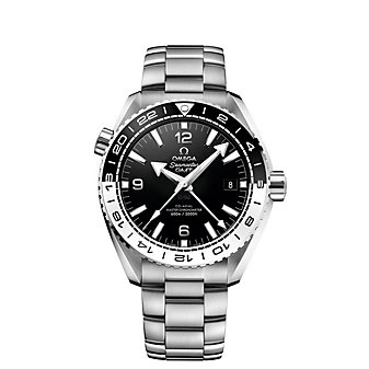 omega steel on steel seamaster planet ocean 600m co-axial master chronometer watch, 43.5mm