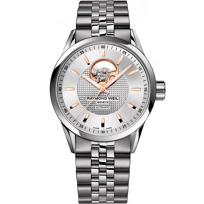 Raymond_Weil_Freelancer_Men's_Bracelet_Watch,_Open_Balance_Wheel