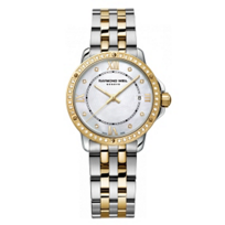 Raymond_Weil_Tango_Women's_Bracelet_Watch,_Two_Tone_with_50_Diamonds