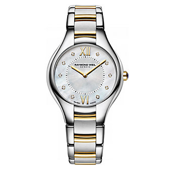 Raymond Weil Noemia Women's Two-Tone Watch, Yellow Accents