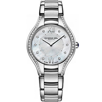Raymond Weil Noemia Ladies 32mm Diamond Watch, 0.33cttw