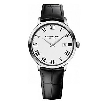 Raymond Weil Toccata Men's 39mm Leather Strap White Dial Watch