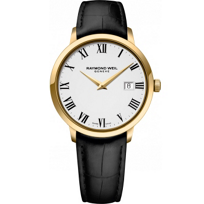 Raymond_Weil_Toccata_Men's_39mm_Gold-Plated_Leather_Strap_Watch