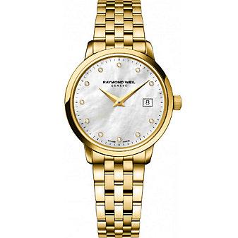 Raymond Weil Toccata Women's Bracelet Watch, Yellow Tone