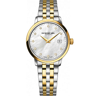 Raymond Weil Toccata Women's Two-Tone Bracelet Watch, 0.03cttw