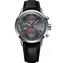Raymond_Weil_Freelancer_Automatic_Chronograph_Strap_Watch,_Grey_Dial