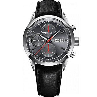 Raymond Weil Freelancer Automatic Chronograph Strap Watch, Grey Dial