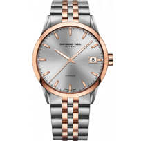 Raymond_Weil_Freelancer_Men's_Two-Tone_Bracelet_Watch,_Silver_Dial