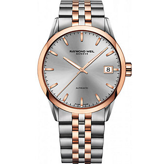 Raymond Weil Freelancer Men's Two-Tone Bracelet Watch, Silver Dial