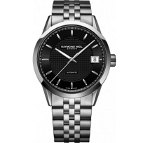 Raymond_Weil_Freelancer_Men's_Bracelet_Watch,_Black_Carbon_Dial