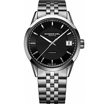 Raymond Weil Freelancer Men's Bracelet Watch, Black Carbon Dial
