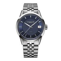 Raymond_Weil_Freelancer_Men's_Bracelet_Watch,_Blue_Dial