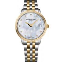 Raymond_Weil_Toccata_Women's_Two-Tone_Bracelet_Watch,_0.28cttw