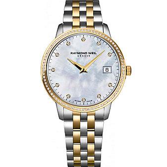 Raymond Weil Toccata Women's Two-Tone Bracelet Watch, 0.28cttw