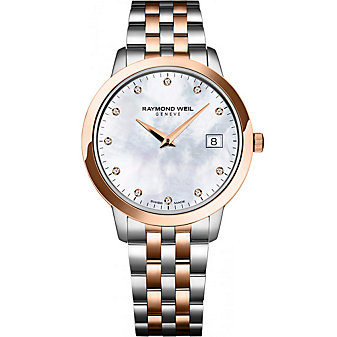 Raymond Weil Toccata Women's Two-Tone Bracelet Watch, Rose Case