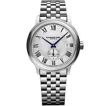 raymond weil maestro automatic small second men's watch, steel on steel